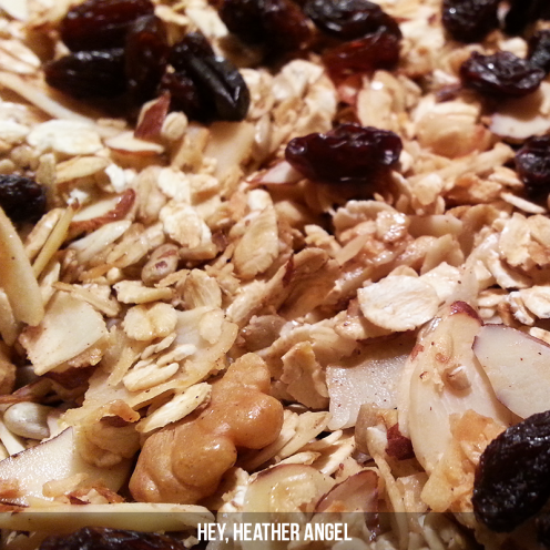 Oooo Ahhh - look at that yummy texture! Obviously, I added raisins to my batch. What would you add?
