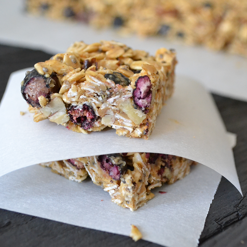 Super easy and delish Gluten Free No-Bake Granola Bars by Painted Fork