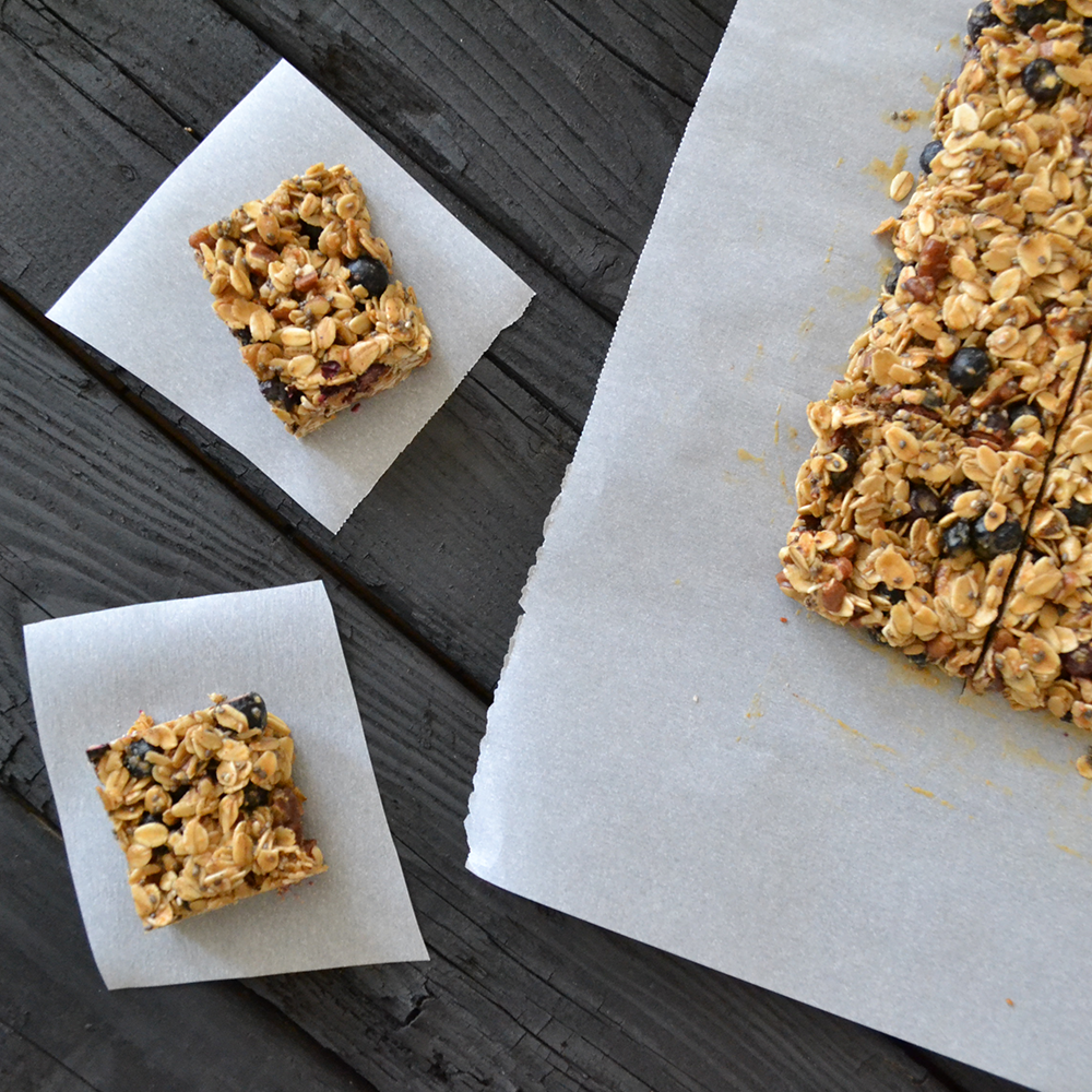 Gluten Free No-Bake Granola Bars by Painted Fork