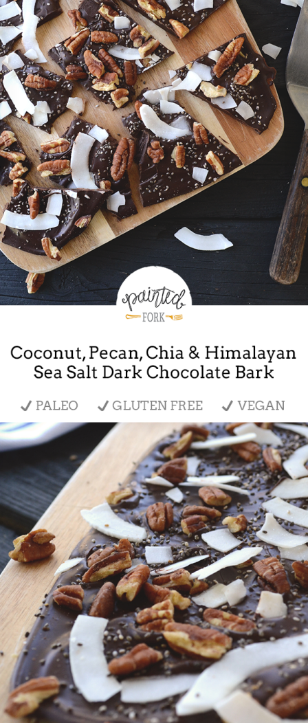 This bark is crunchy, sweet, salty, and seriously delicious. Thanks to Enjoy Life brand chocolate, this is dairy-free, gluten-free, and vegan-friendly. I swear they don't pay me to use their products so much.