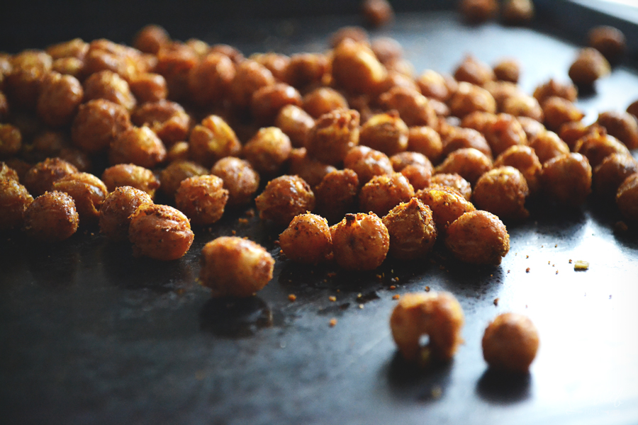 Crispy Curry Roasted Chickpeas by Painted Fork