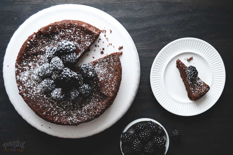 Flourless Chocolate Cake recipe by Painted Fork