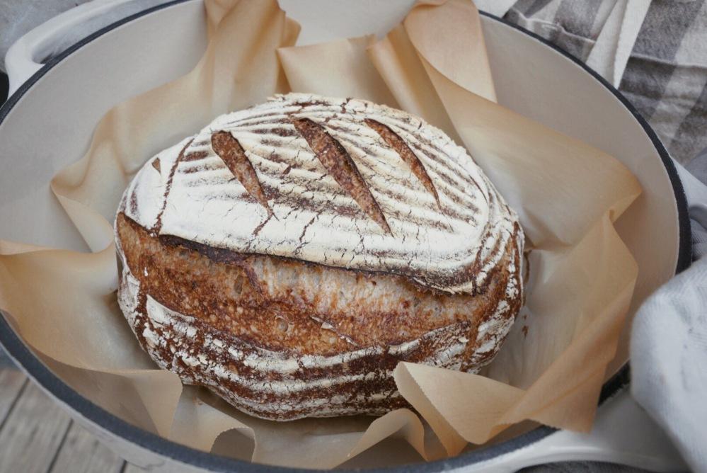 Classic Sourdough Bread Painted Fork