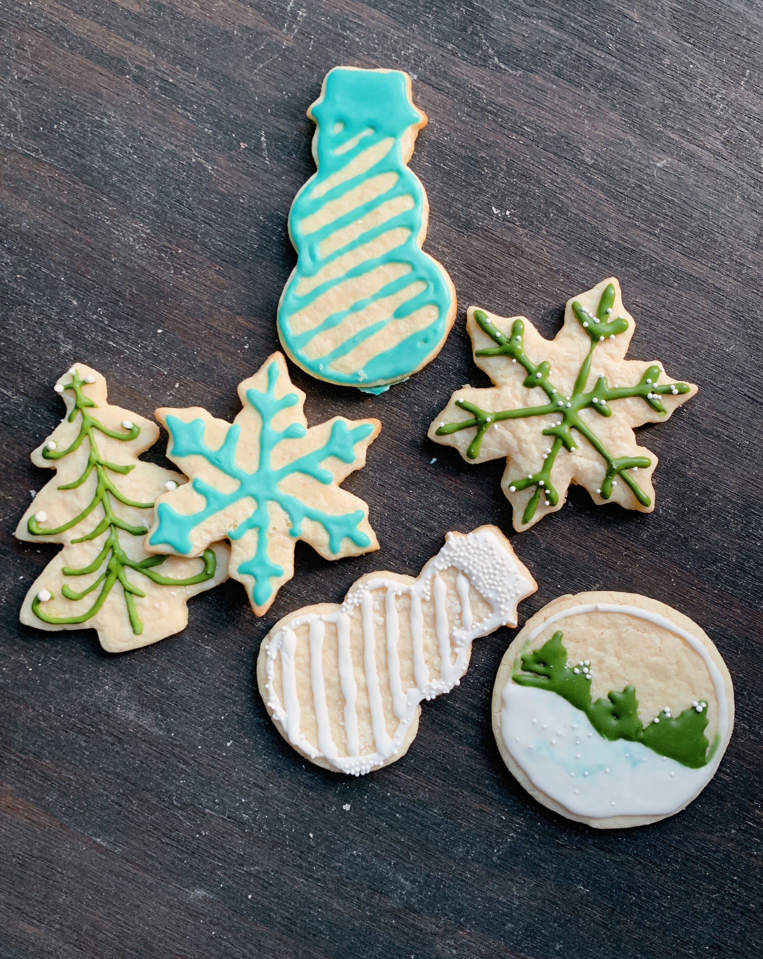 Painted Fork | Best Cut Out Sugar Cookies and Royal Icing